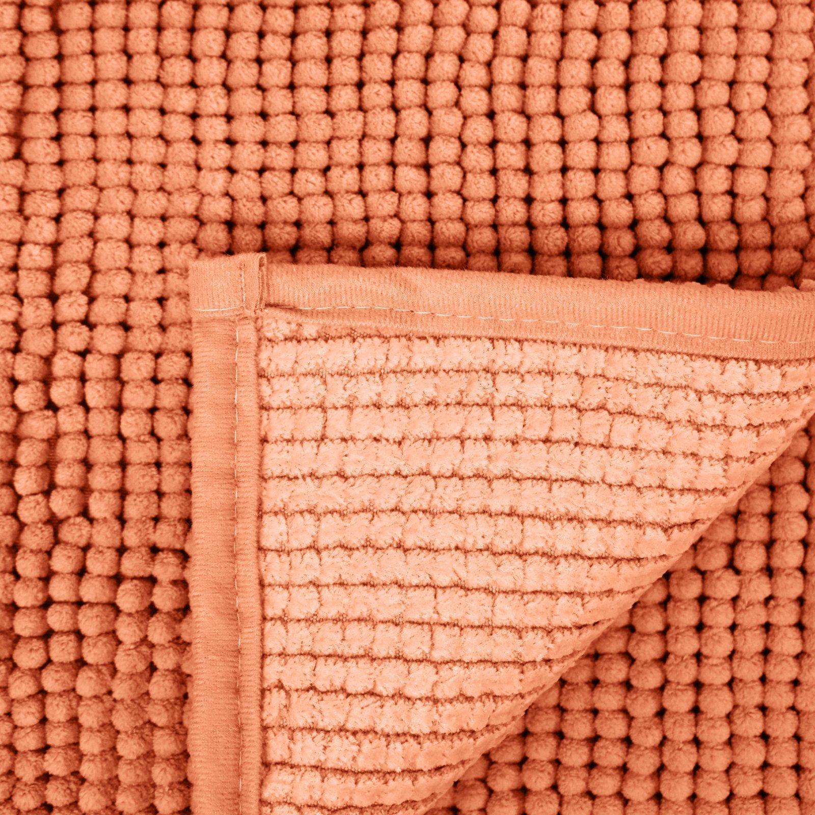 Tappeto bagno in microfibra, arancione, 50x90 cm | Bella ...